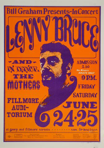 Lenny Bruce - The Mothers Postcard